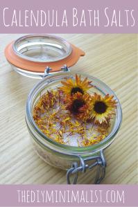 Calendula Bath Salts - The DIY Minimalist (1)